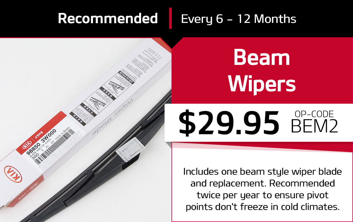 Kia Beam Wipers Service Special Coupon