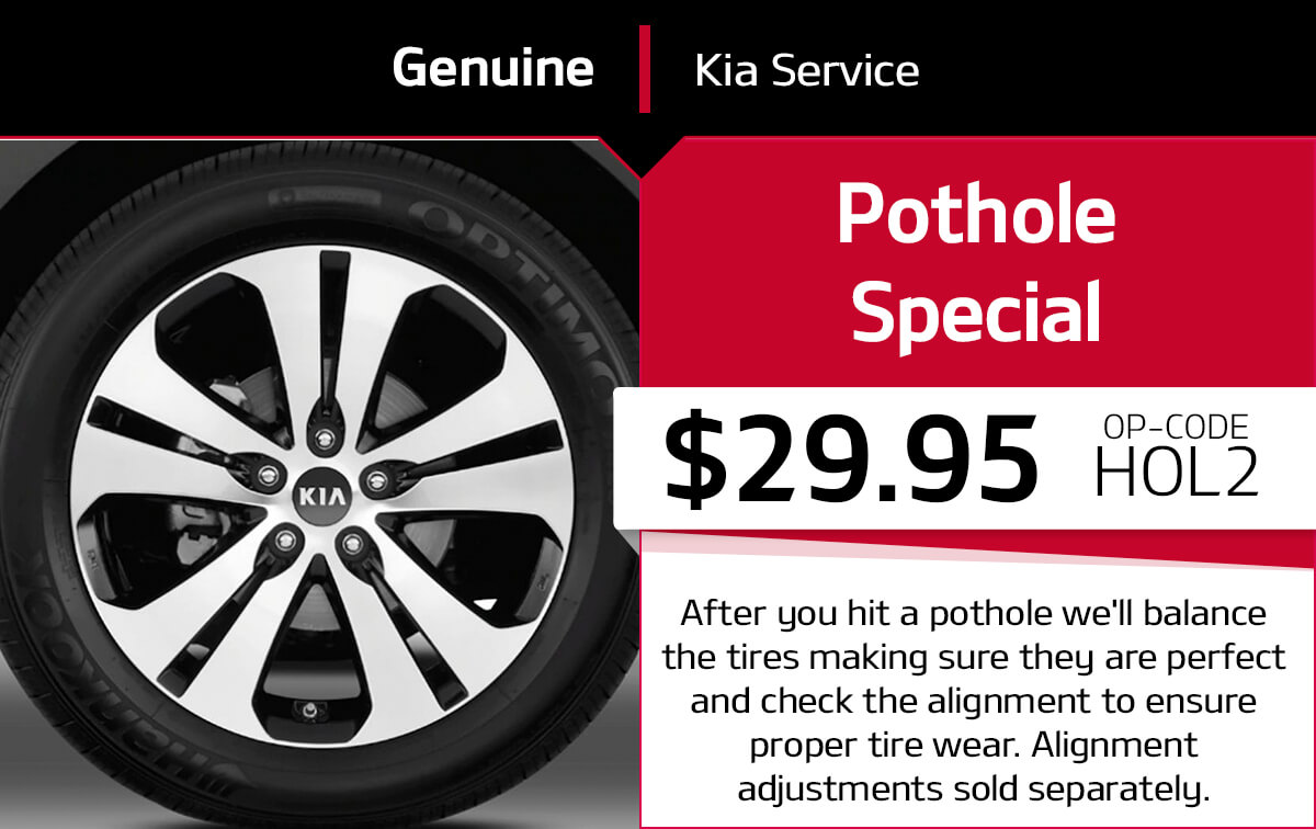 Kia Pothole Service Special Coupon