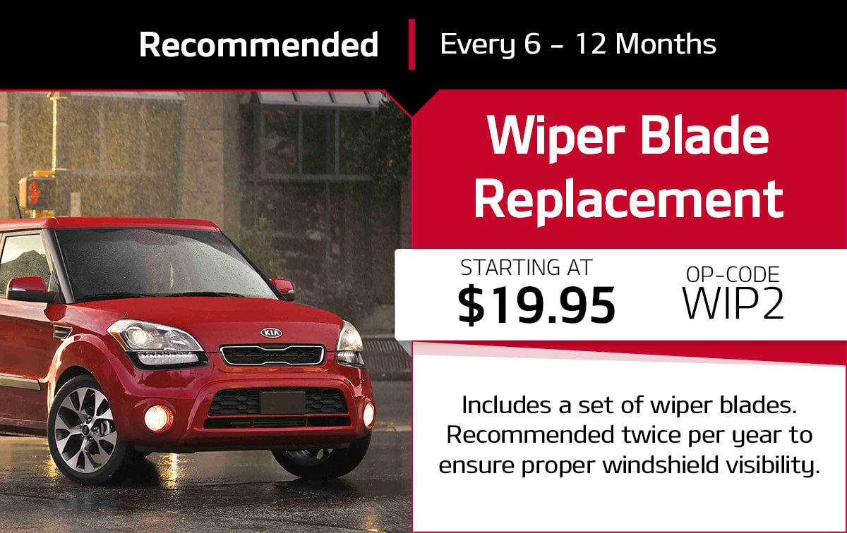 Kia Standard Wipers Service Special Coupon