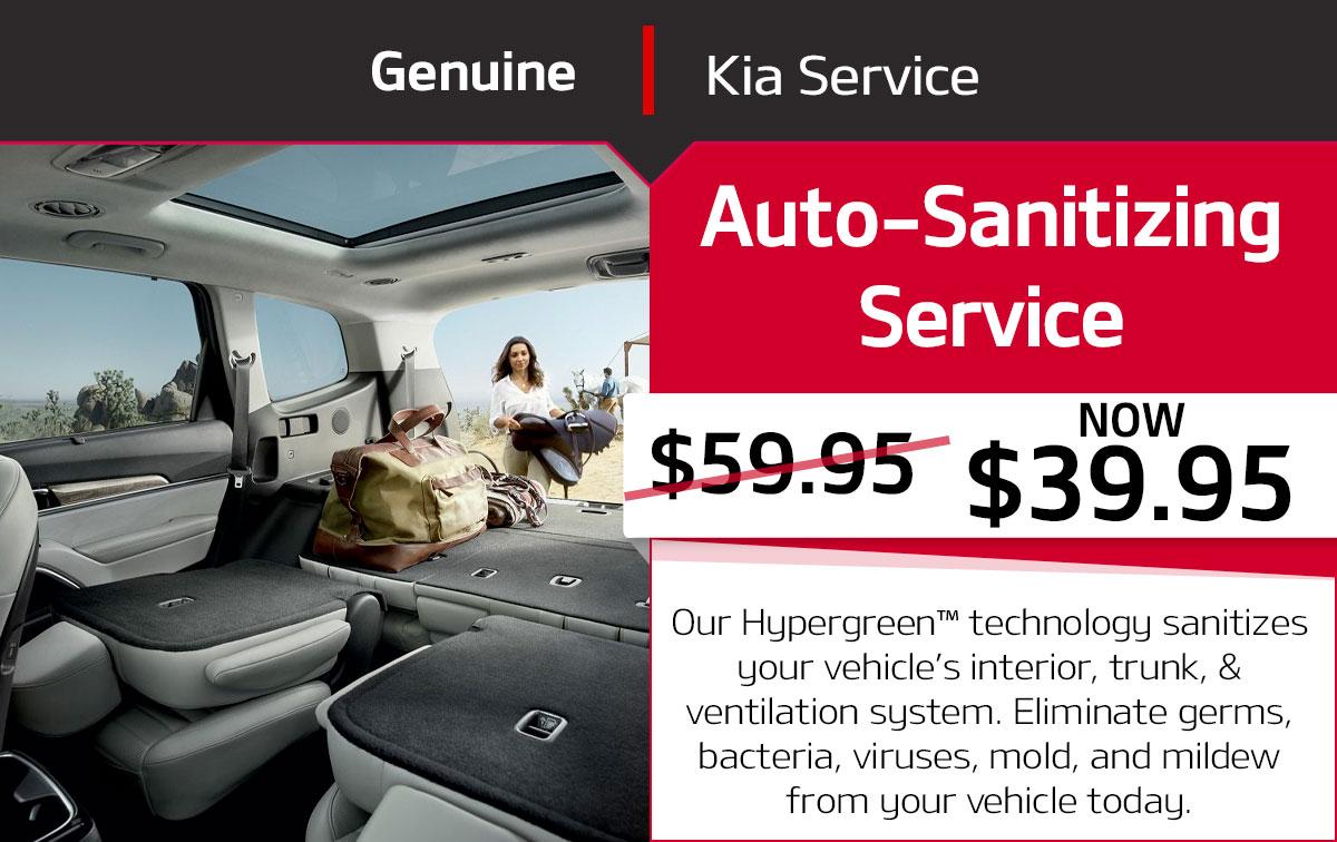 Kia Auto-Sanitizing Service Special Coupon