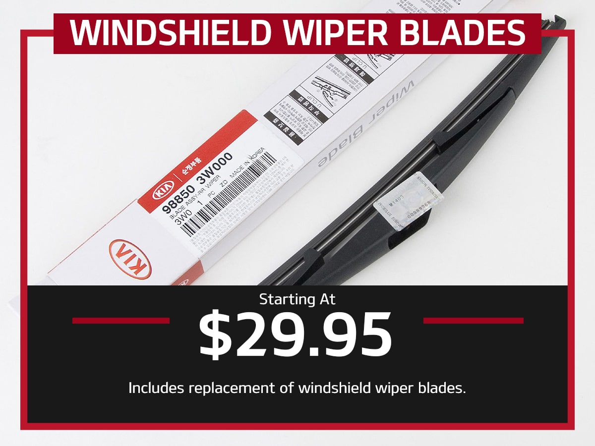 Suntrup Kia Windshield Wiper Blade Replacement Service Special Coupon St. Louis, MO