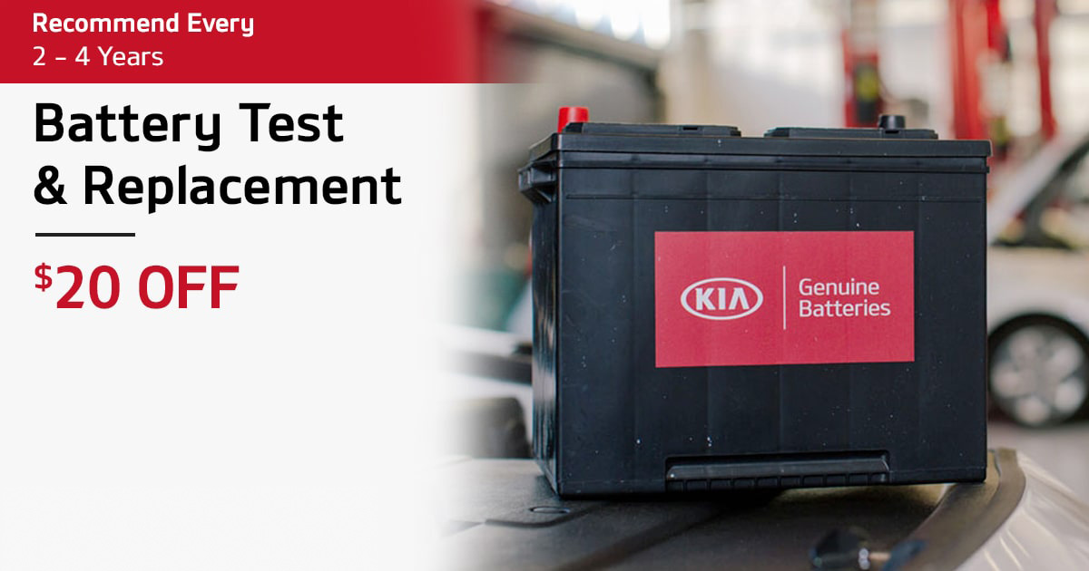 Kia Battery Test & Replacement Service Special Coupon