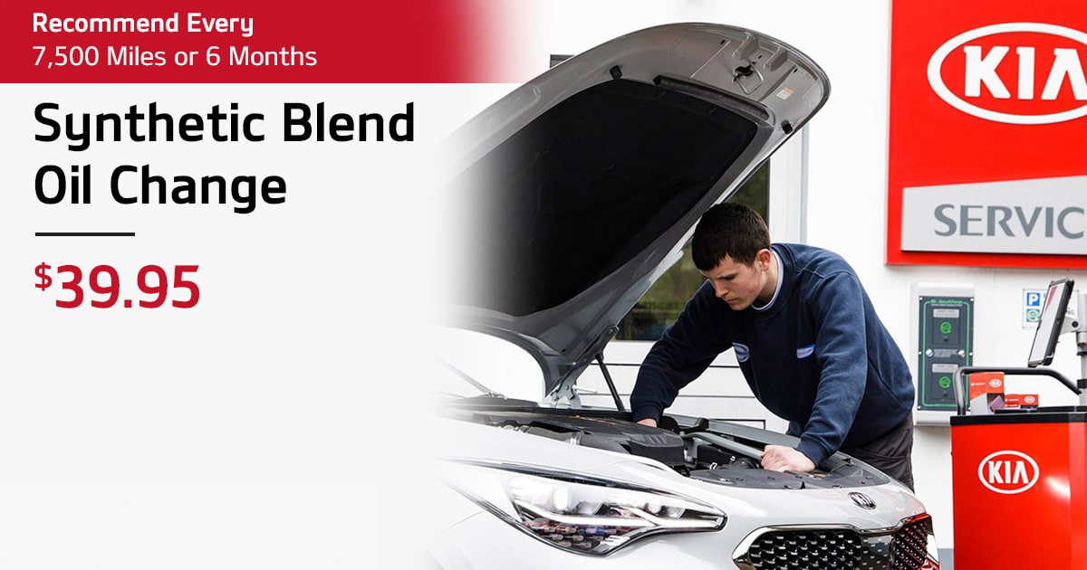 Kia Synthetic Blend Oil Change Service Special Coupon