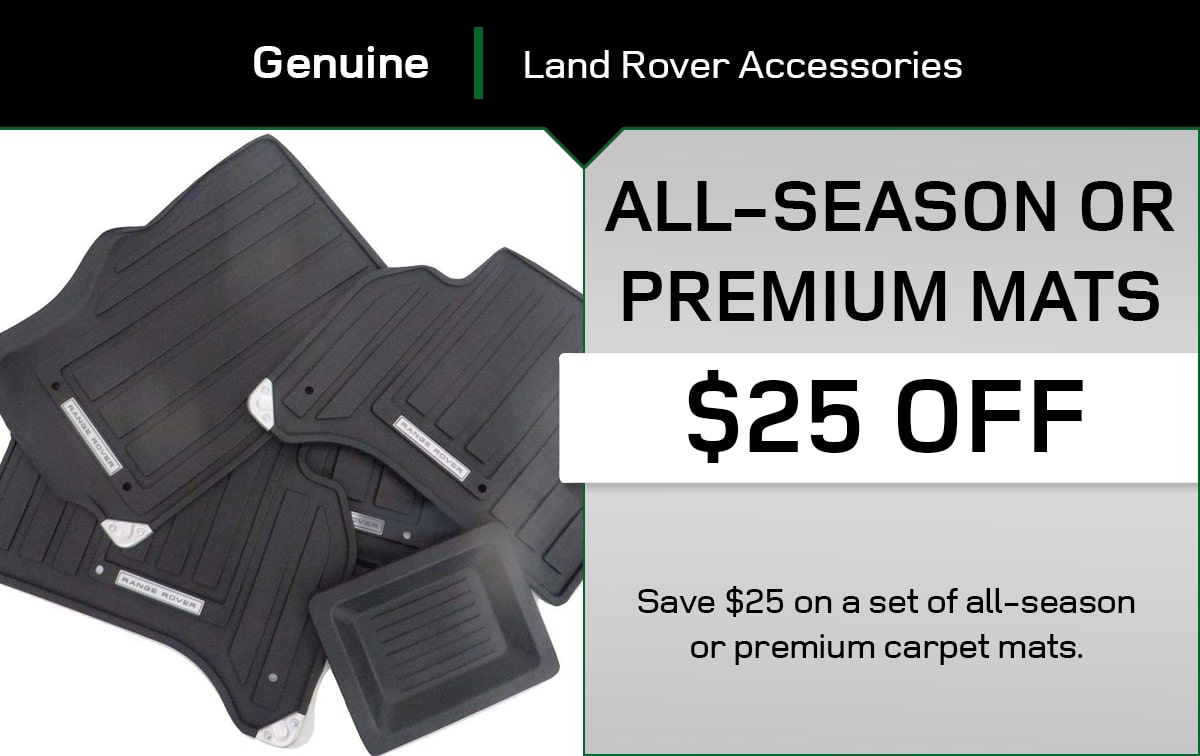 Land Rover All-Season Or Premium Mats Special Coupon
