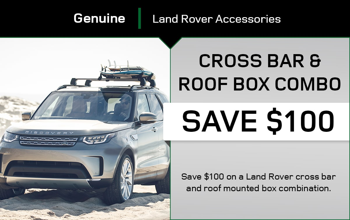Land Rover Cross Bar & Roof Box Combo Special Coupon