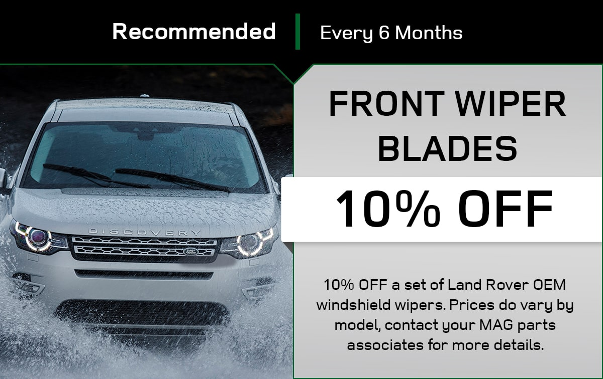 Land Rover Front Wiper Blades Service Special Coupon
