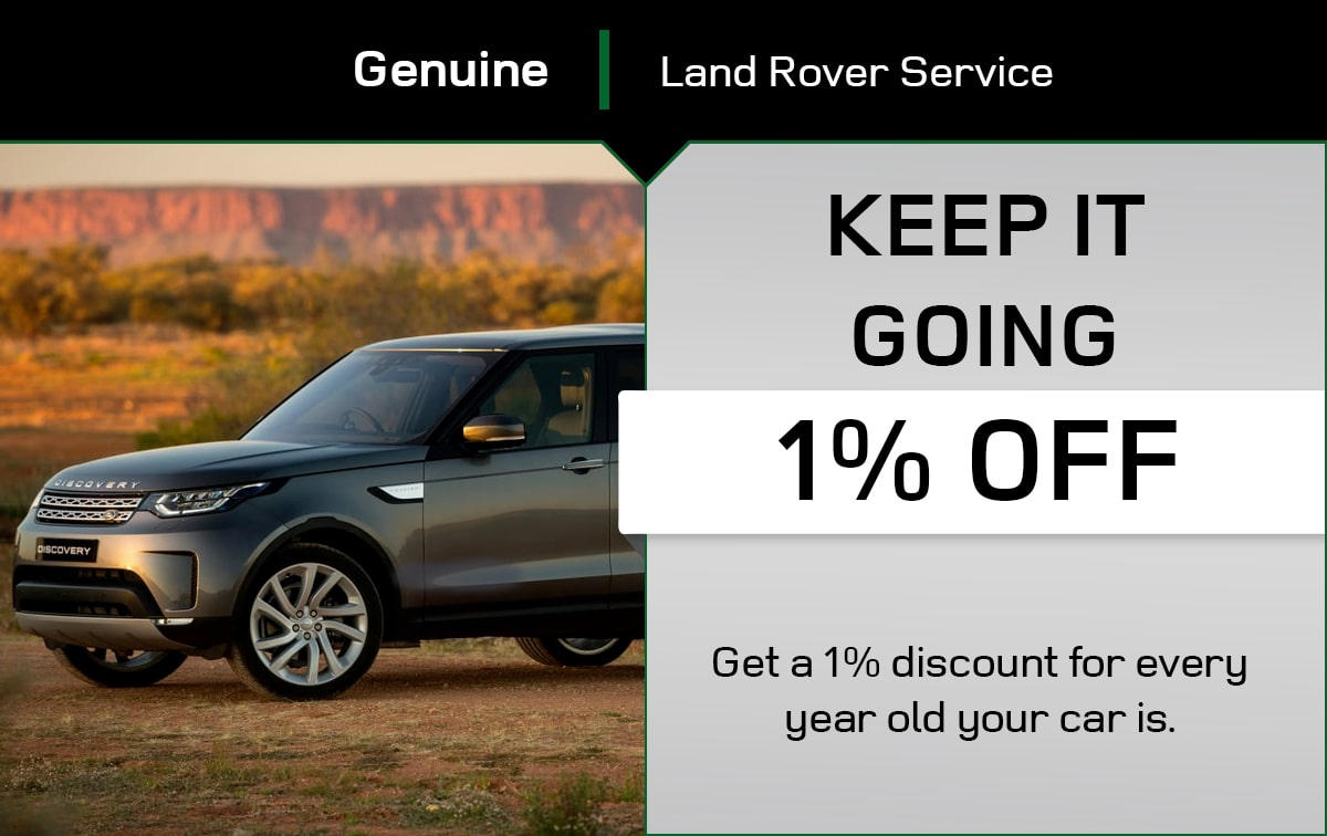 Land Rover Keep It Going Service Special Coupon