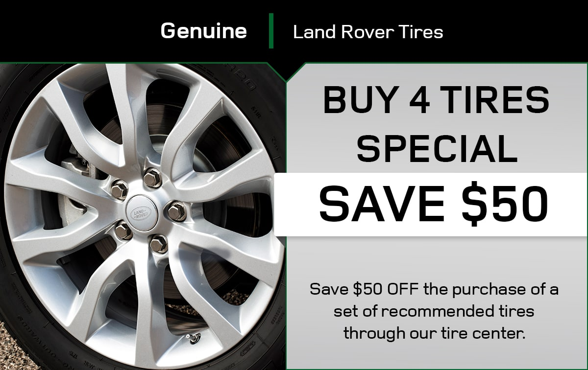 Land Rover Buy 4 Tires Special Coupon