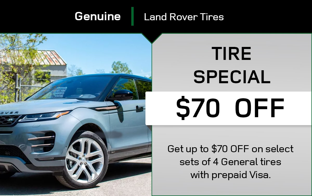 Land Rover Tire Special Coupon