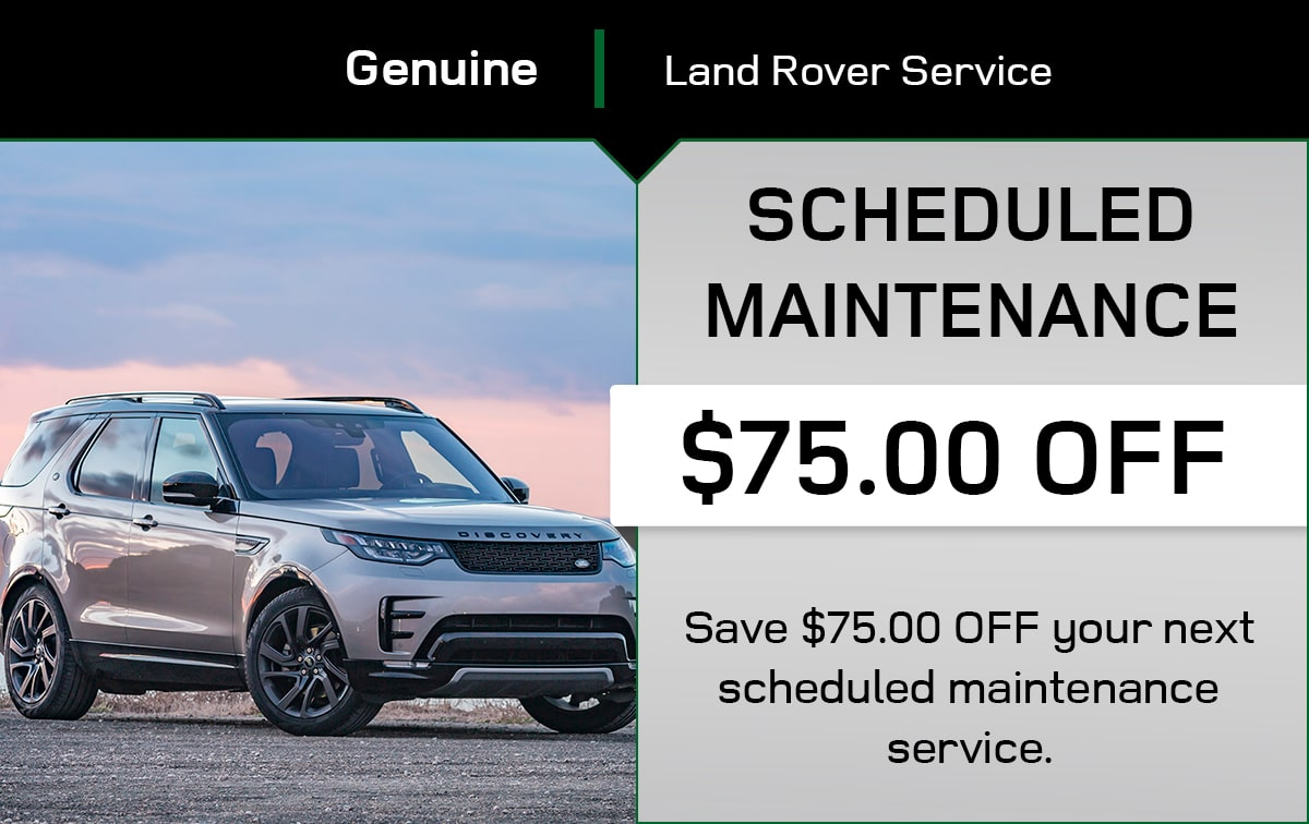 Land Rover Scheduled Maintenance Service Special Coupon
