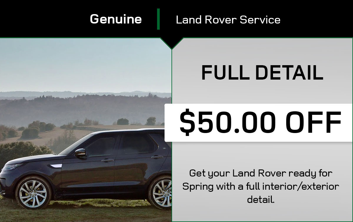 Land Rover Full Detail Service Special Coupon