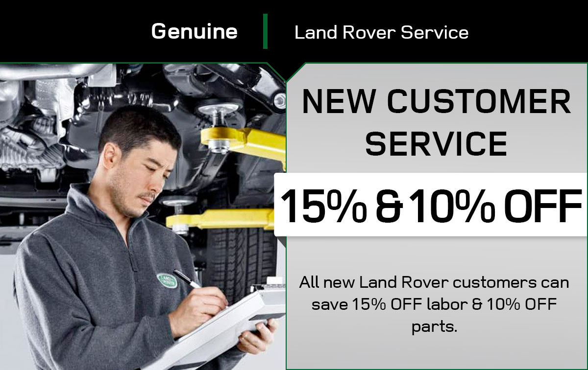 Land Rover New Customer Service Special Coupon