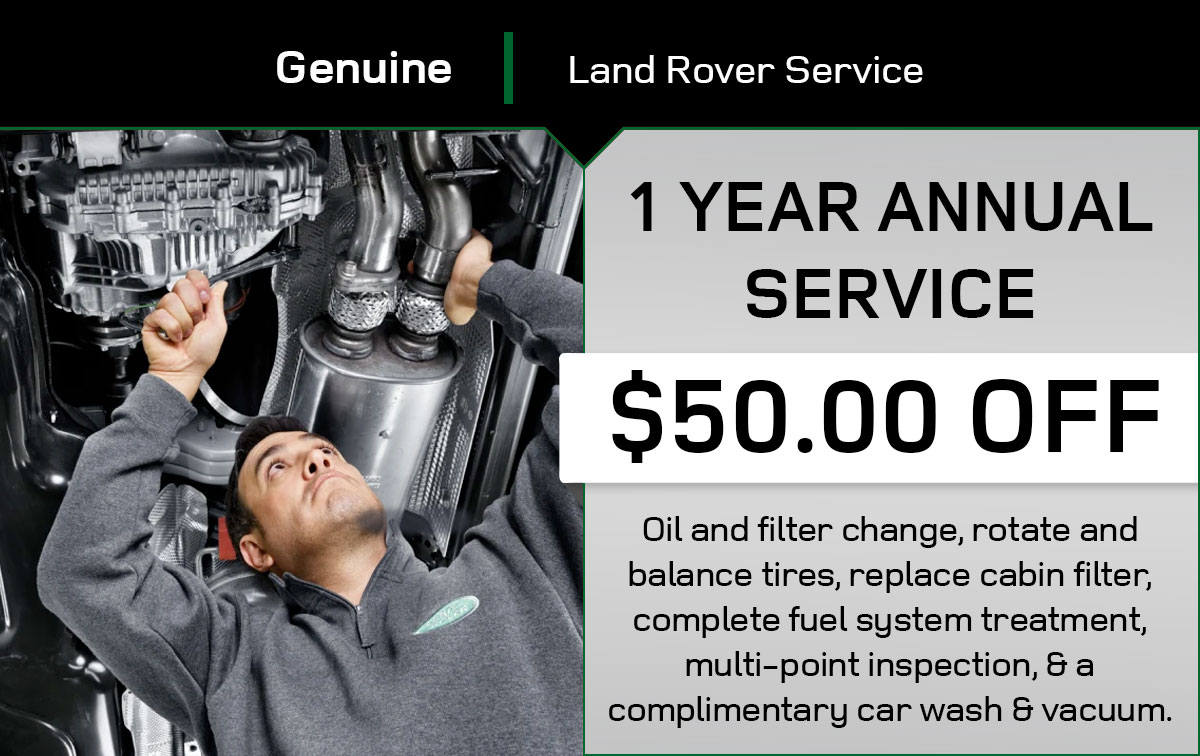 Land Rover T1 Year Service Special Coupon