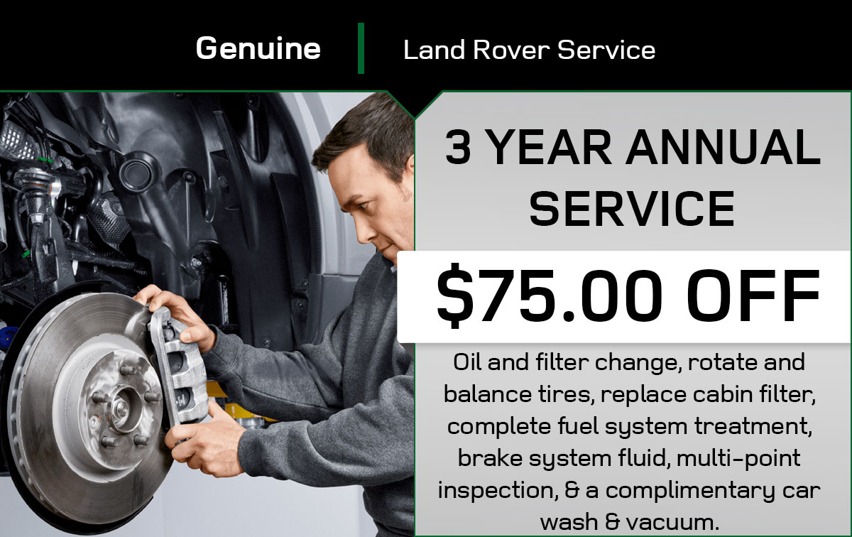 Land Rover 3 Year Service Special Coupon