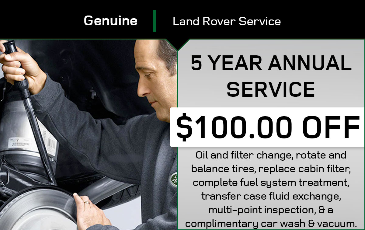 Land Rover 5 Year Service Special Coupon