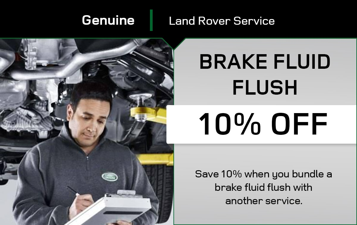 Land Rover Brake Fluid Flush Special Coupon