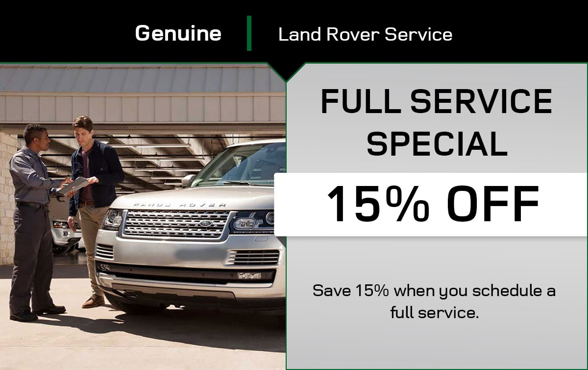 Land Rover Full Service Special Coupon