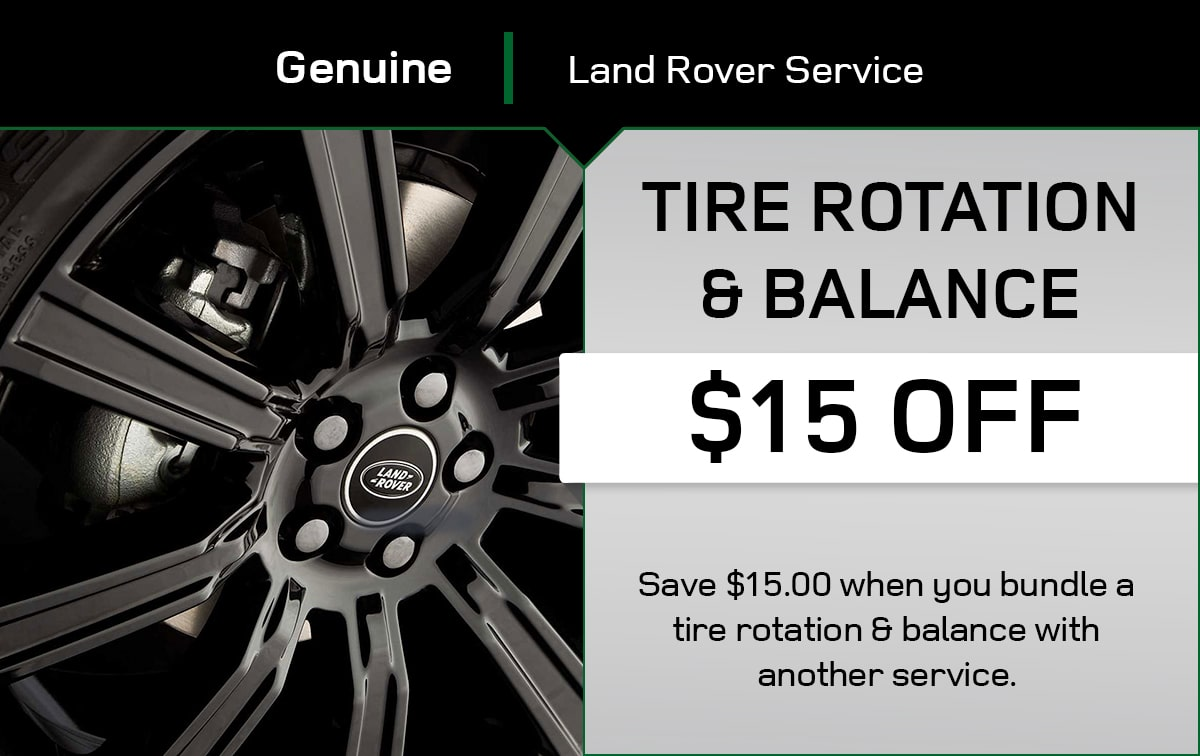 Land Rover Tire Rotation & Balance Special Coupon