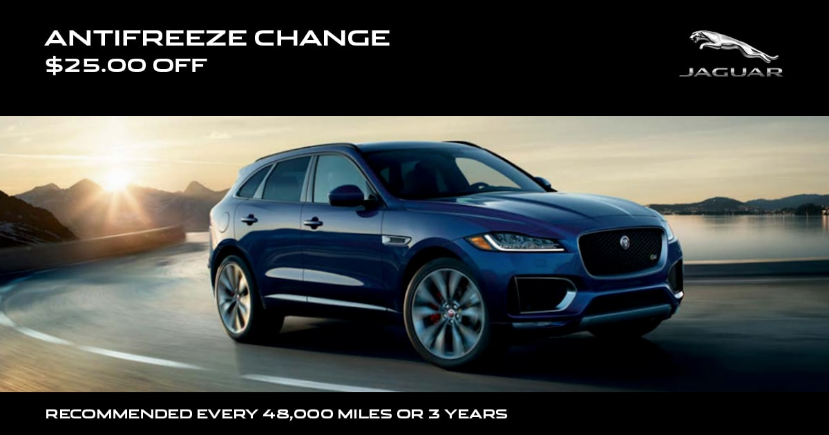 Jaguar Antifreeze Change Service Special Coupon