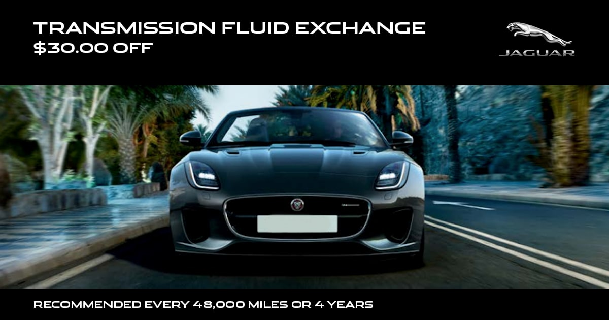 Jaguar Transmission Fluid Exchange Service Special Coupon