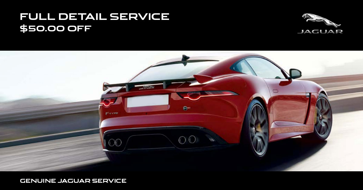 Jaguar Full Detail Service Special Coupon