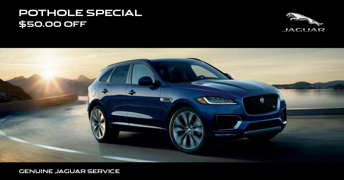 Jaguar Winter Pothole Service Special Coupon
