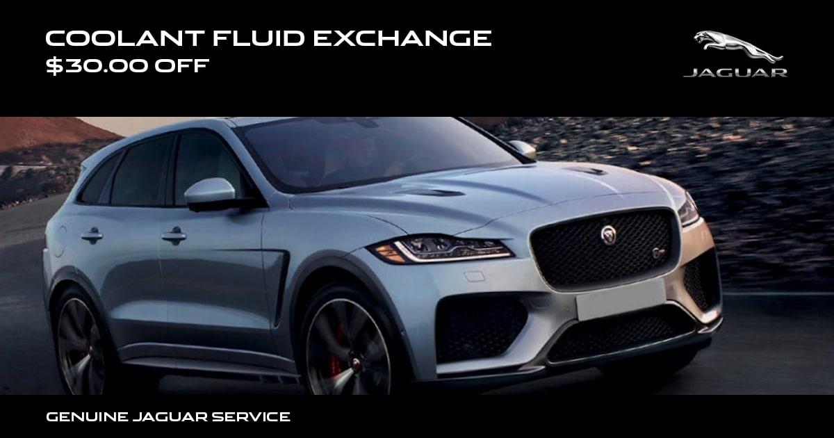 Jaguar Coolant Fluid Exchange Service Special Coupon