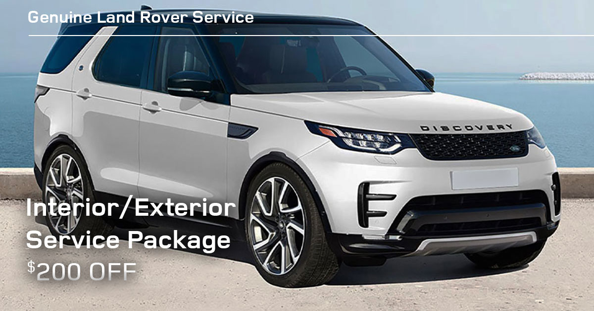 Land Rover Interior/Exterior Protection Package Service Special Coupon
