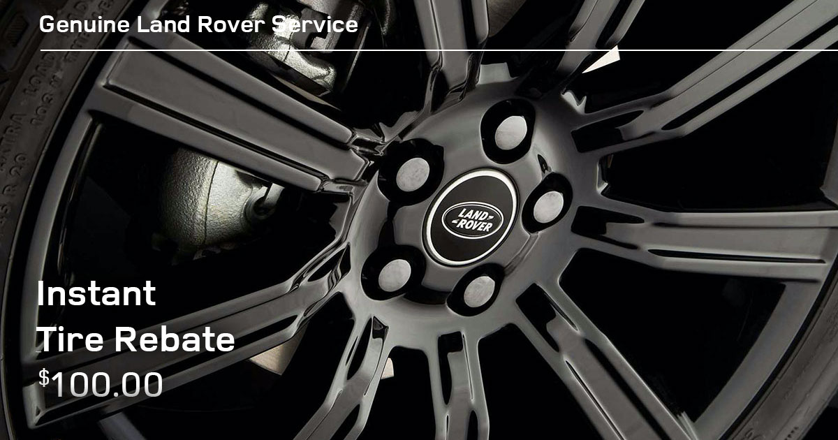 Land Rover Instant Tire Rebate Special Coupon