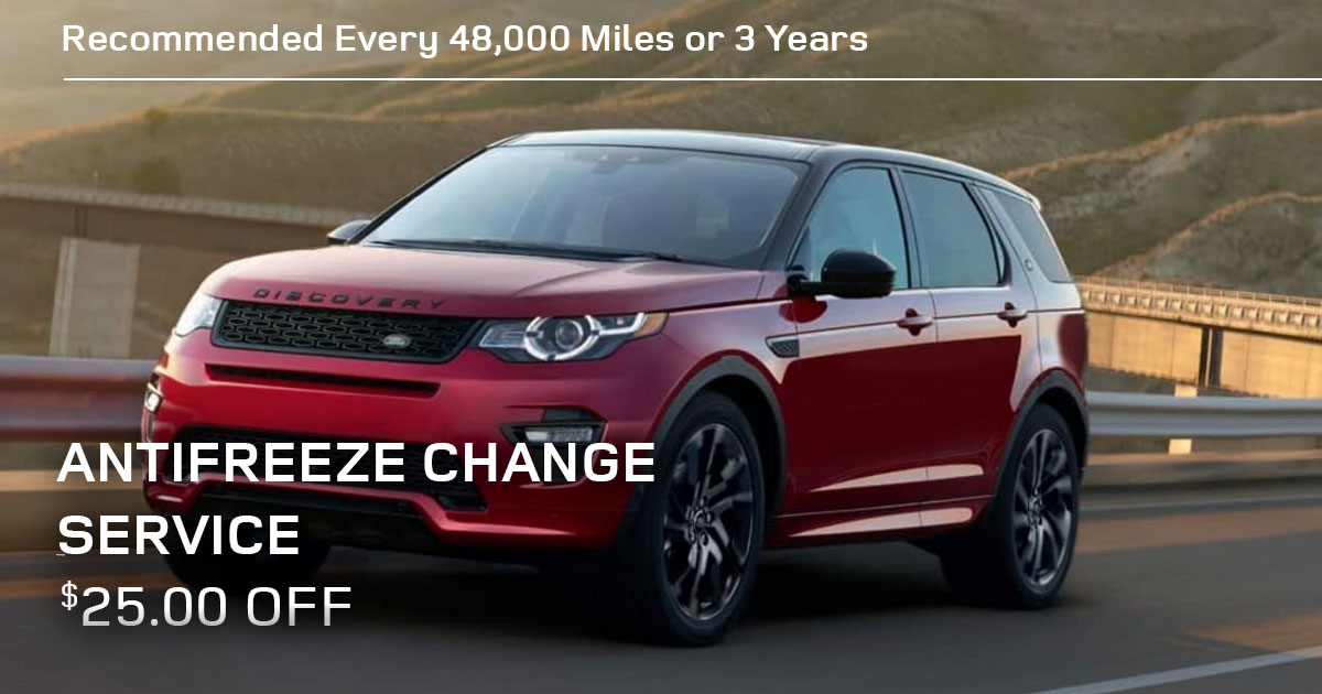 Land Rover Antifreeze Change Service Special Coupon