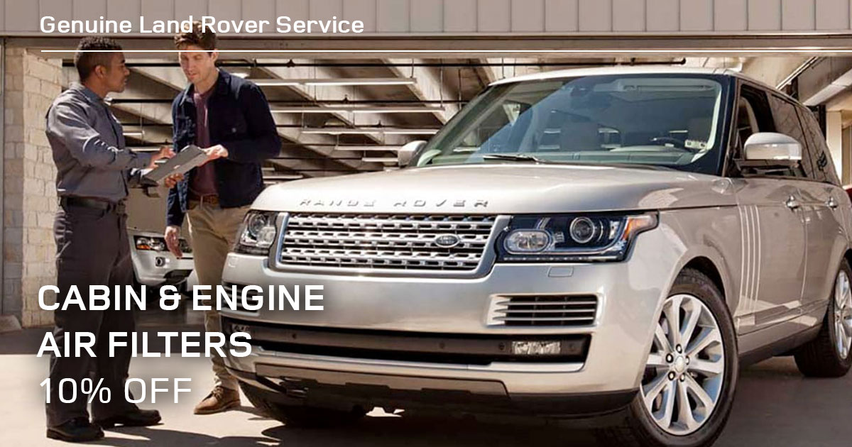 Land Rover Cabin & Engine Air Filters Service Special Coupon