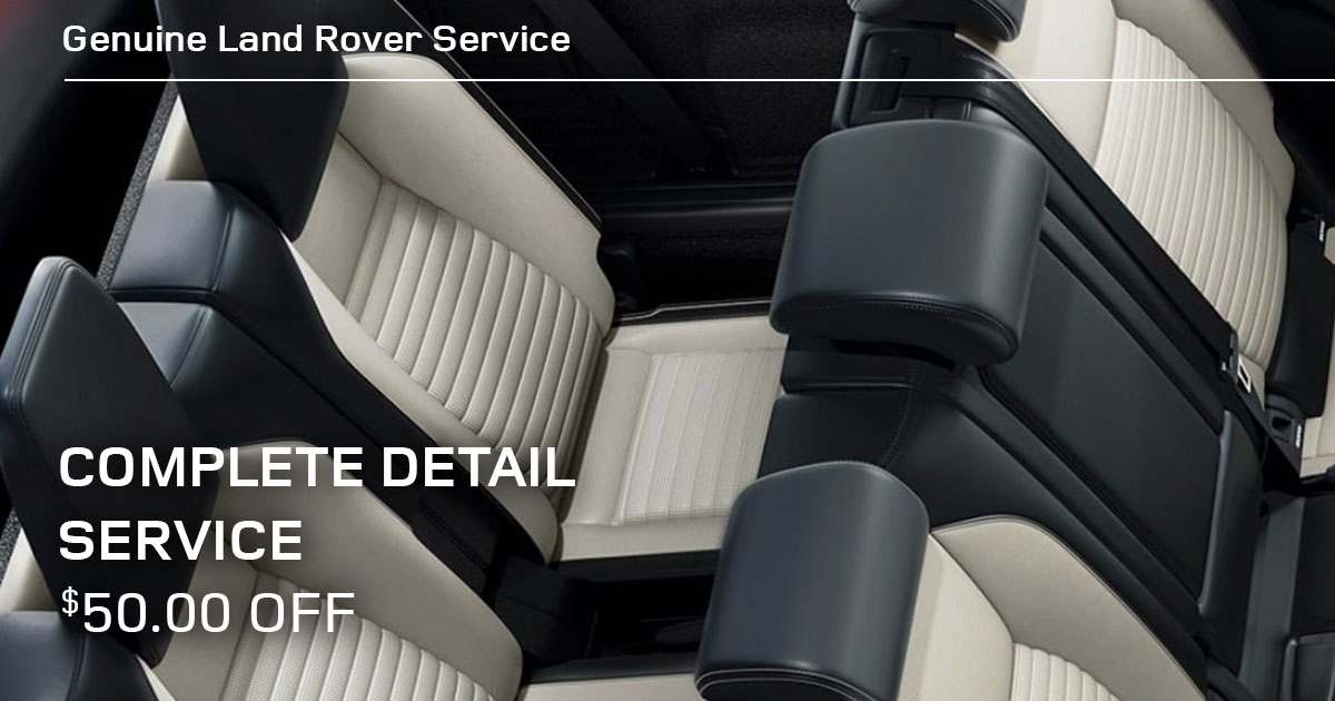 Land Rover Complete Detail Service Special Coupon