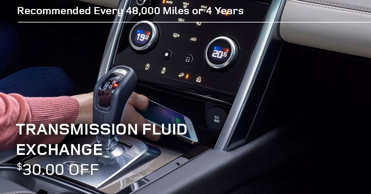 Land Rover Transmission Fluid Exchange Service Special Coupon
