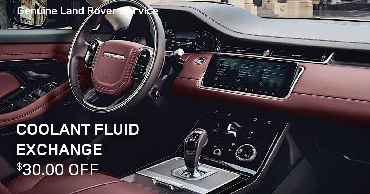 Land Rover Coolant Fluid Exchange Service Special Coupon