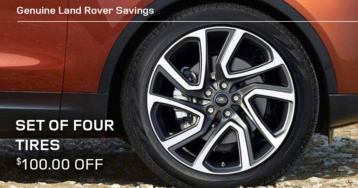 Land Rover Set of Four Tires Service Special Coupon