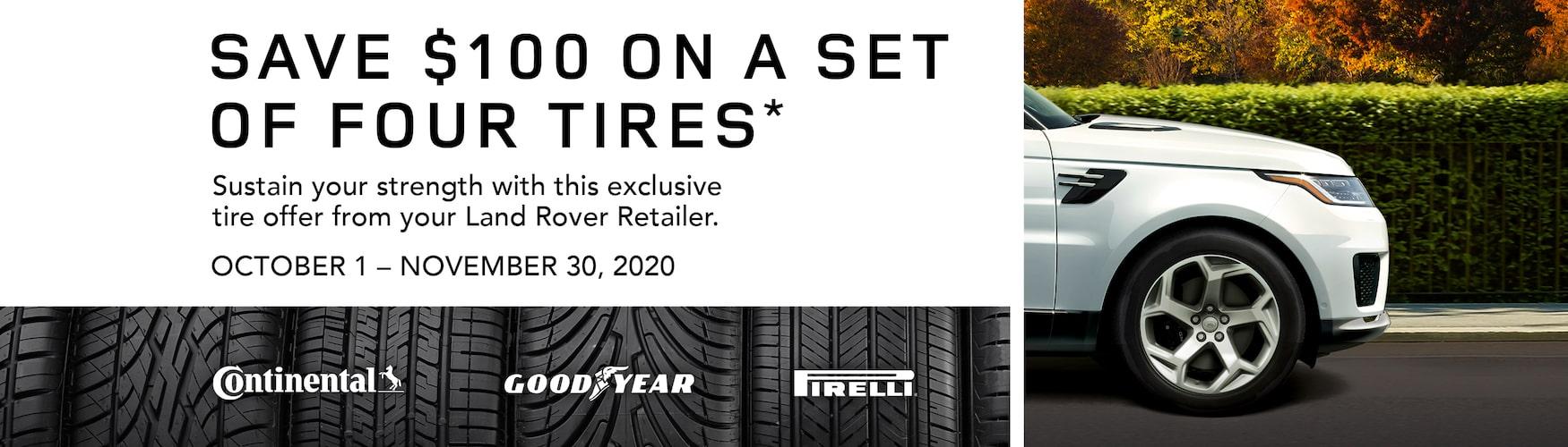Land Rover Tire Promo October November 2020