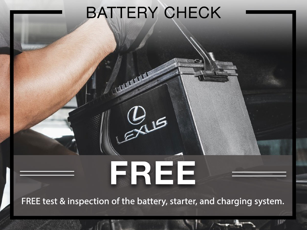 Lexus Battery Check Service Special Coupon