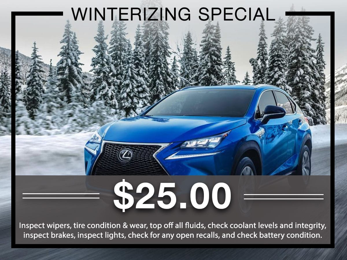 Lexus Winterizing Service Special Coupon