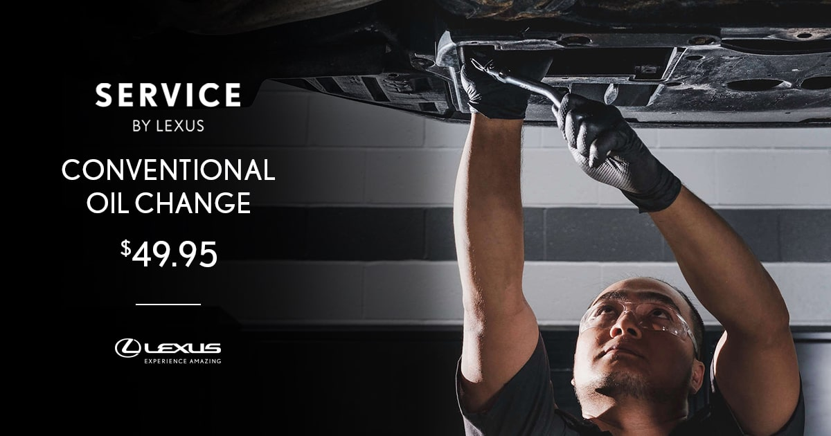 Lexus Conventional Oil Change Service Special Coupon