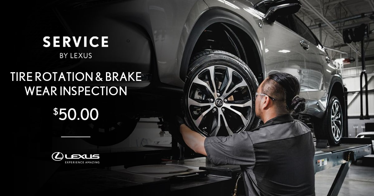 Lexus Tire Rotation & Brake Wear Inspection Special Coupon