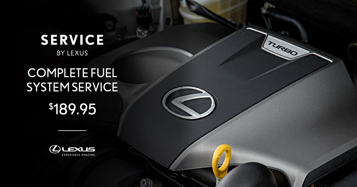 Lexus Complete Fuel System Service Special Coupon