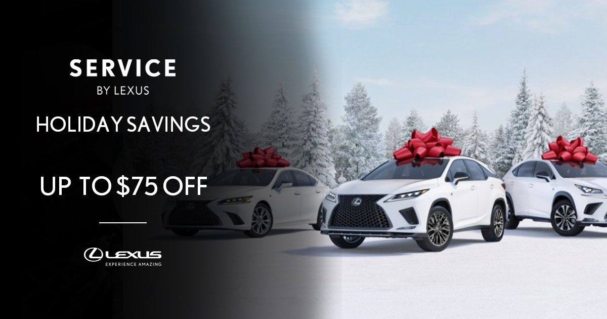 Lexus Holiday Savings Service Special Coupon