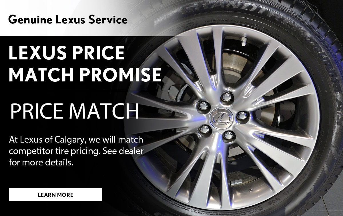 Lexus Tire Price Match Service Special Coupon