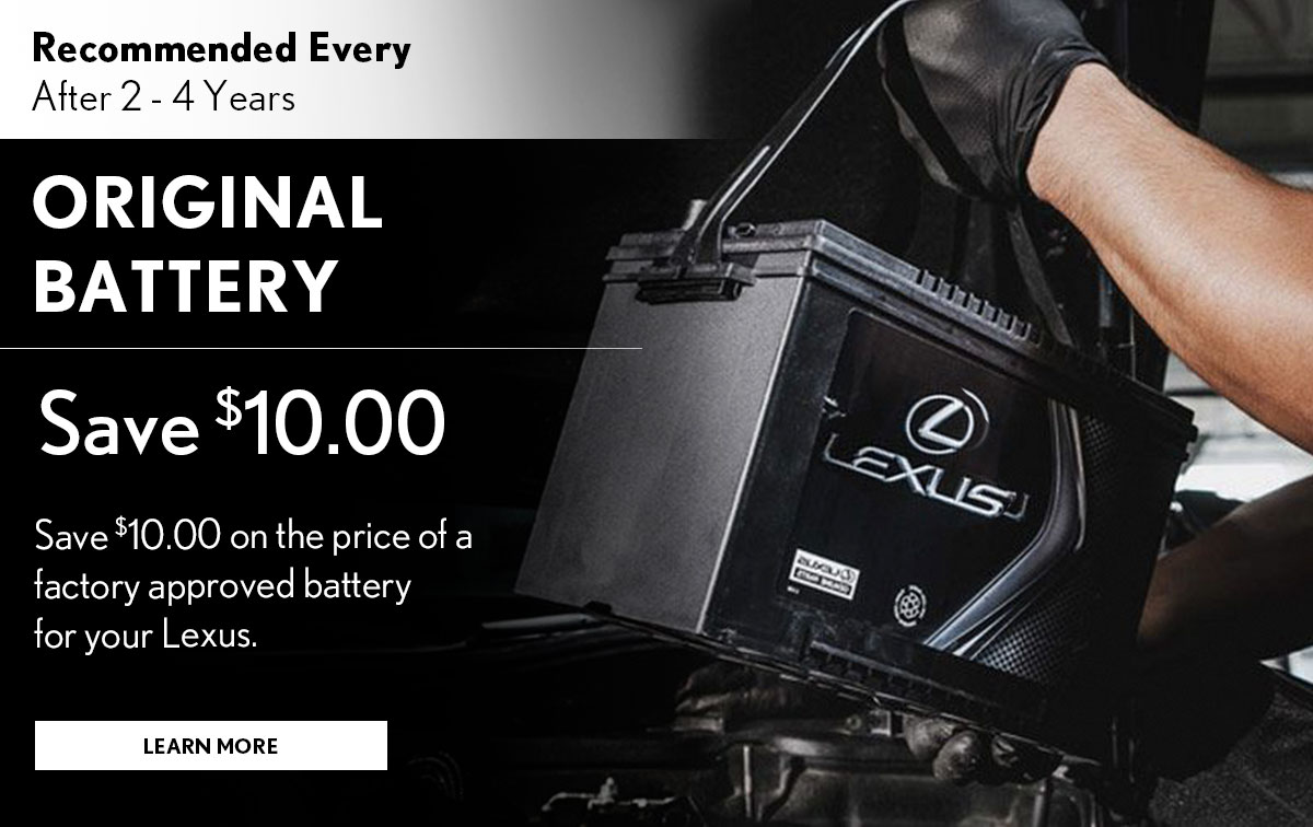 Lexus Original Battery  Service Special Coupon