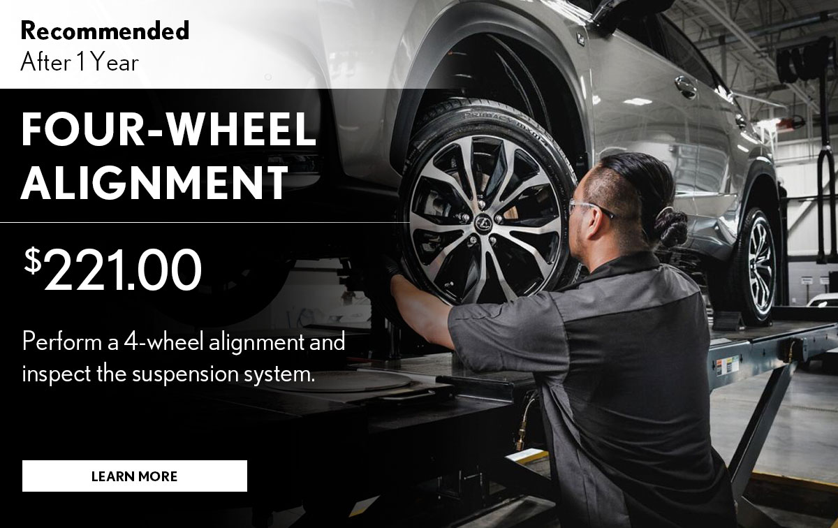 Lexus Four-Wheel Alignment Service Special Coupon