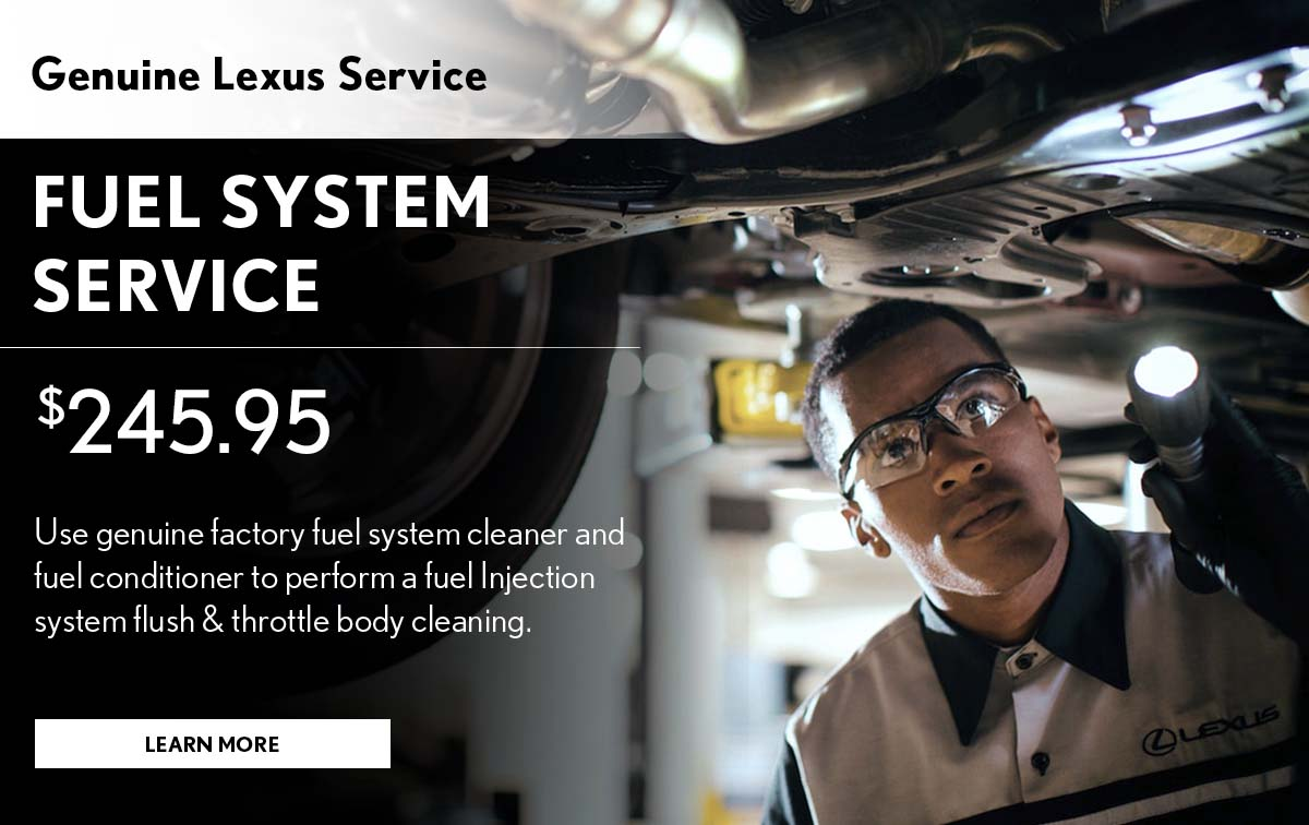 Lexus Fuel System Service Service Special Coupon