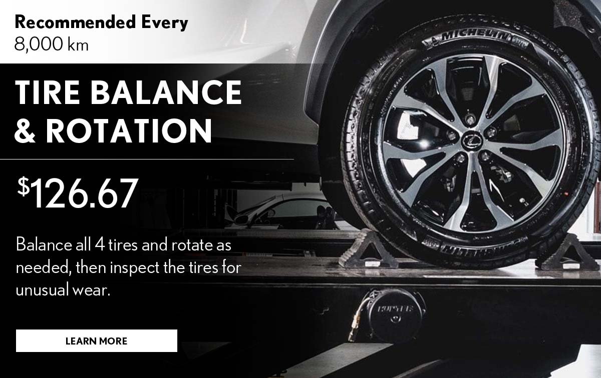 Lexus Tire Balance & Rotation Service Special Coupon