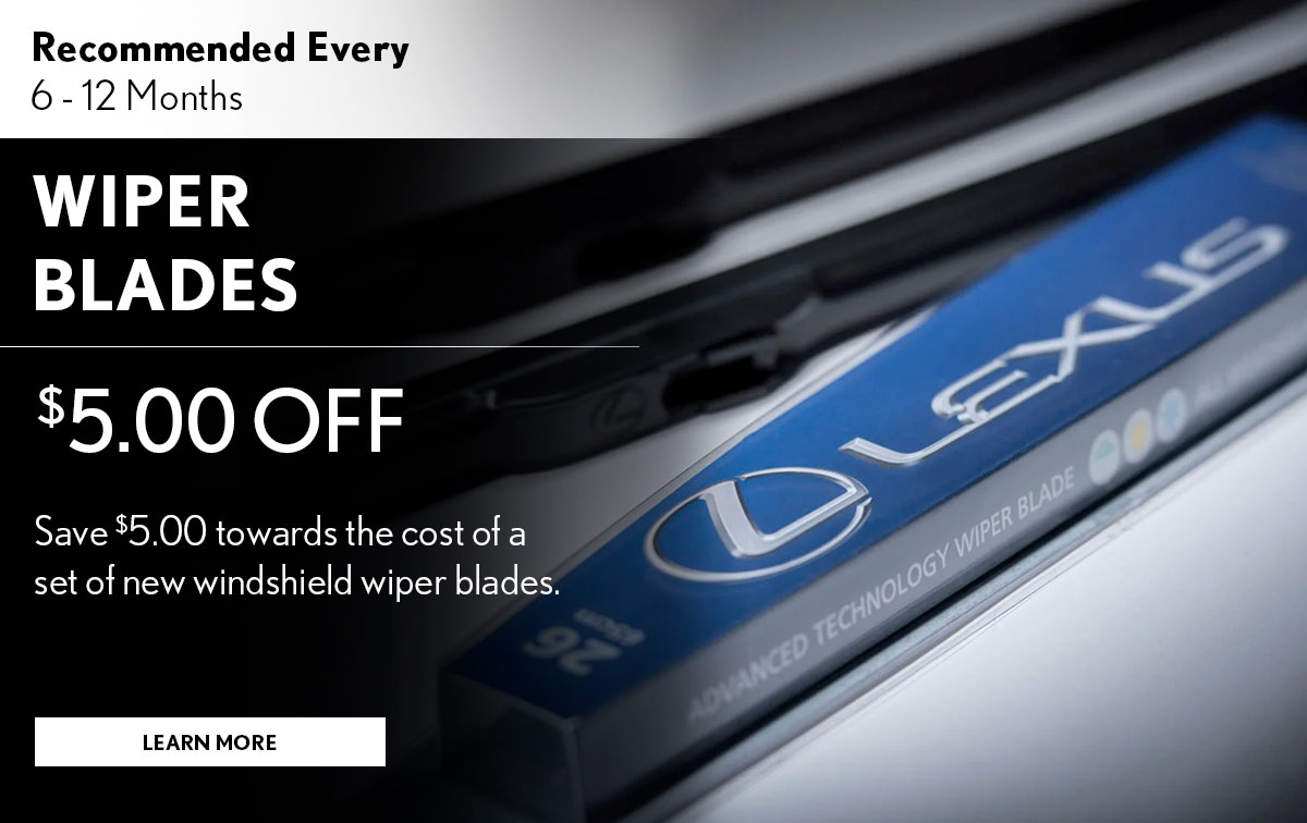 Lexus Wiper Blade Service Special Coupon