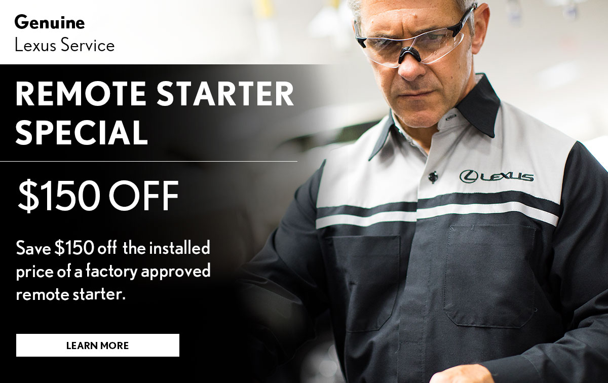 Lexus Remote Starter Special Coupon