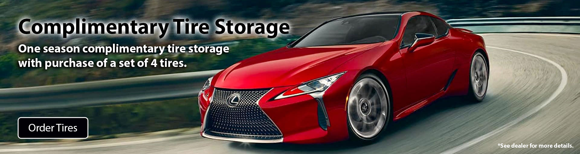 Lexus Tire Storage Offer